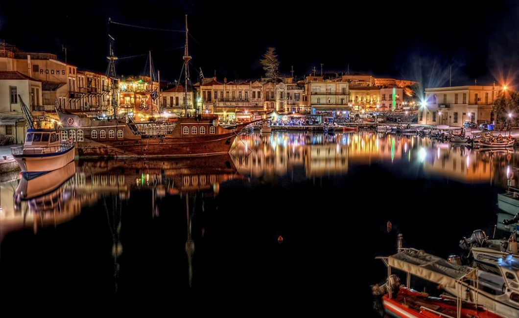 Crete Rethymno Old Marina Wallpaper  yvt2